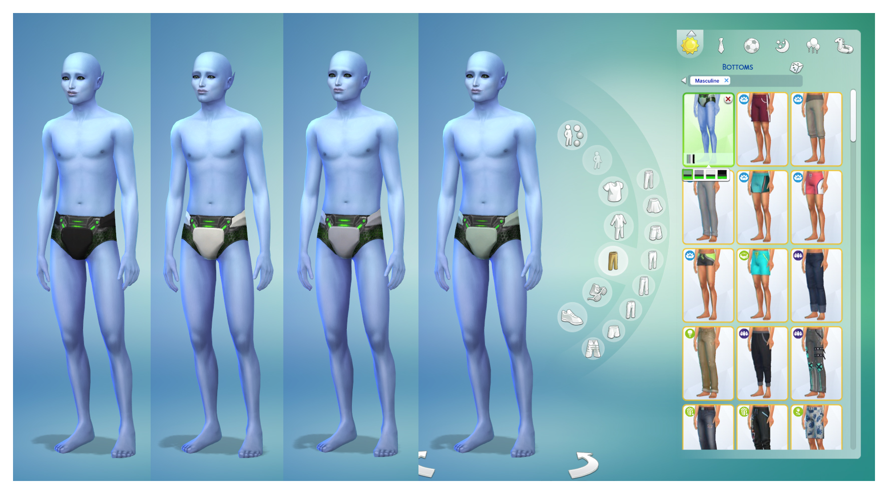 Mod The Sims - Male Alien Swimwear