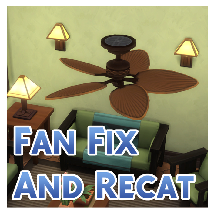 Mod The Sims Obsolete Fan Rotation Fix And Recat