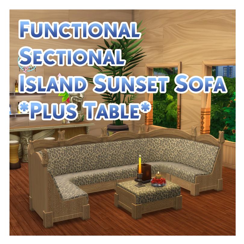 Мод Функциональный секционный островной диван