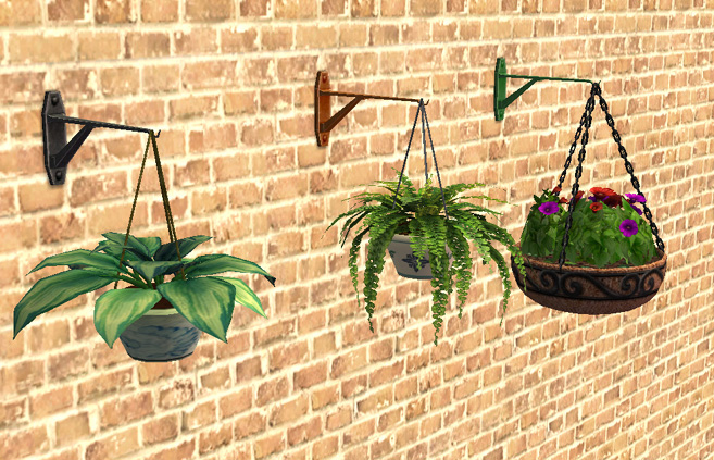 Mod the sims hanging flower wall bracket for How to hang flowers