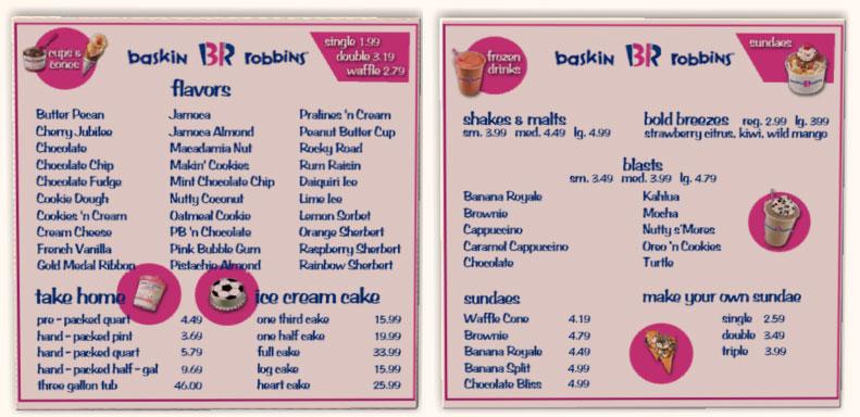 List Of Baskin Robbins 31 Flavors
