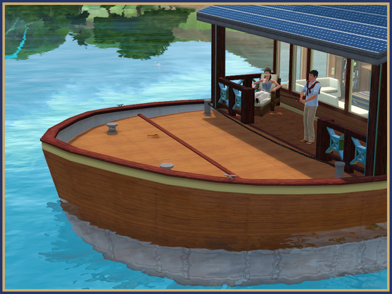 how to build a houseboat sims 3