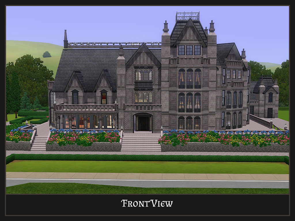 Gothic Style Home Mod The Sims Stately Goth Manor Residential No Cc