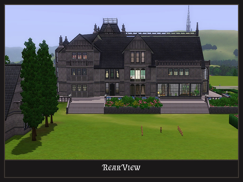 Mod The Sims Stately Goth Manor Residential No Cc