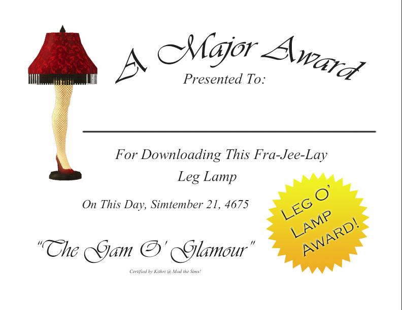Mod The Sims A Major Award