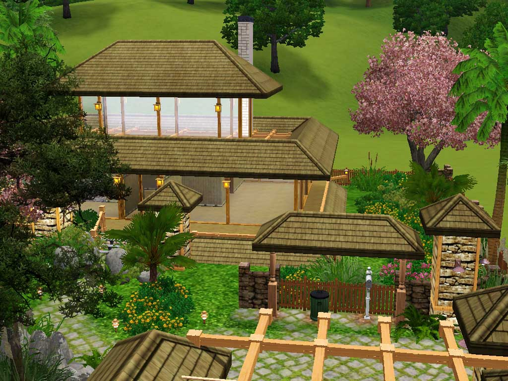 Mod the sims kodwang thai house for Free thai house plans