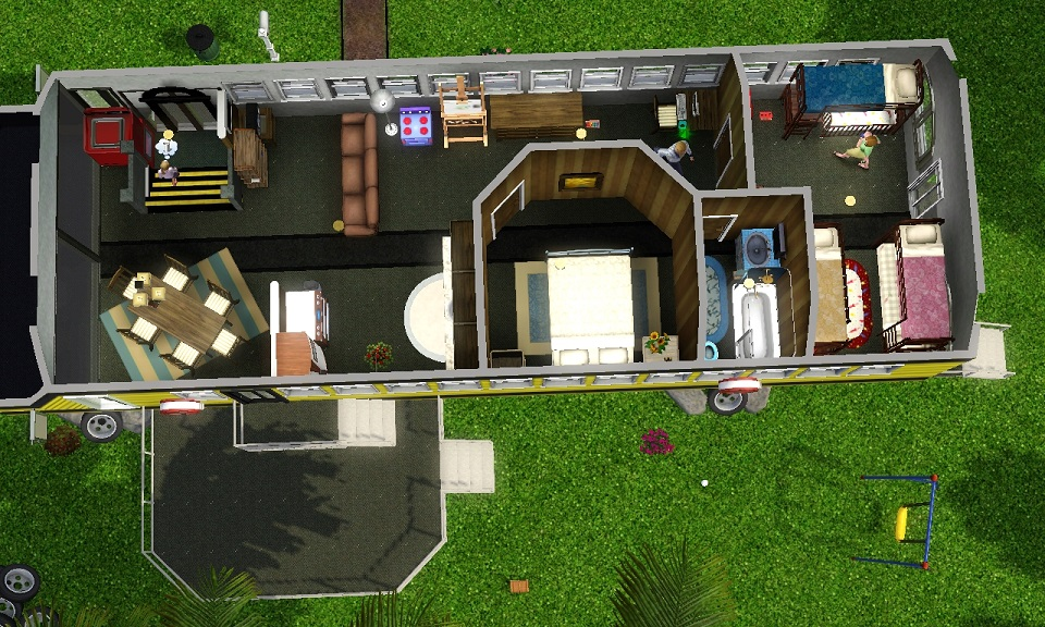 Mod The Sims Life Inside a School Bus and NEW Tiny House School