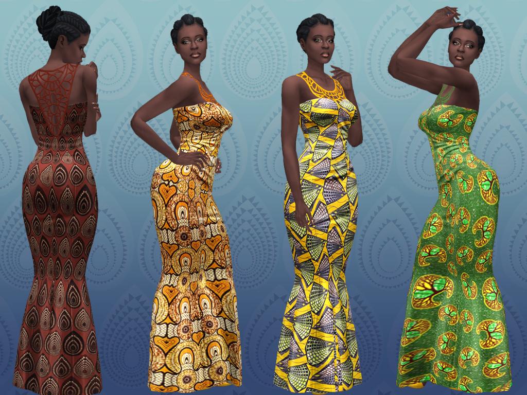 Африканское вечернее платье русалки