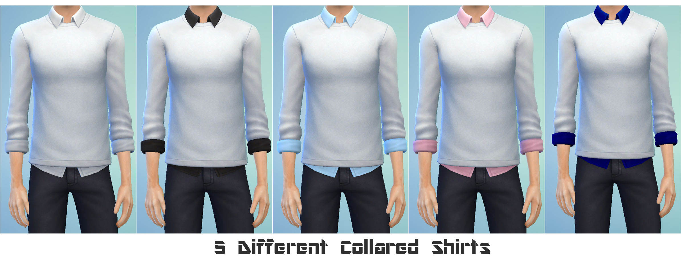 Mod The Sims The Basics Collection Untucked Collared Shirt With