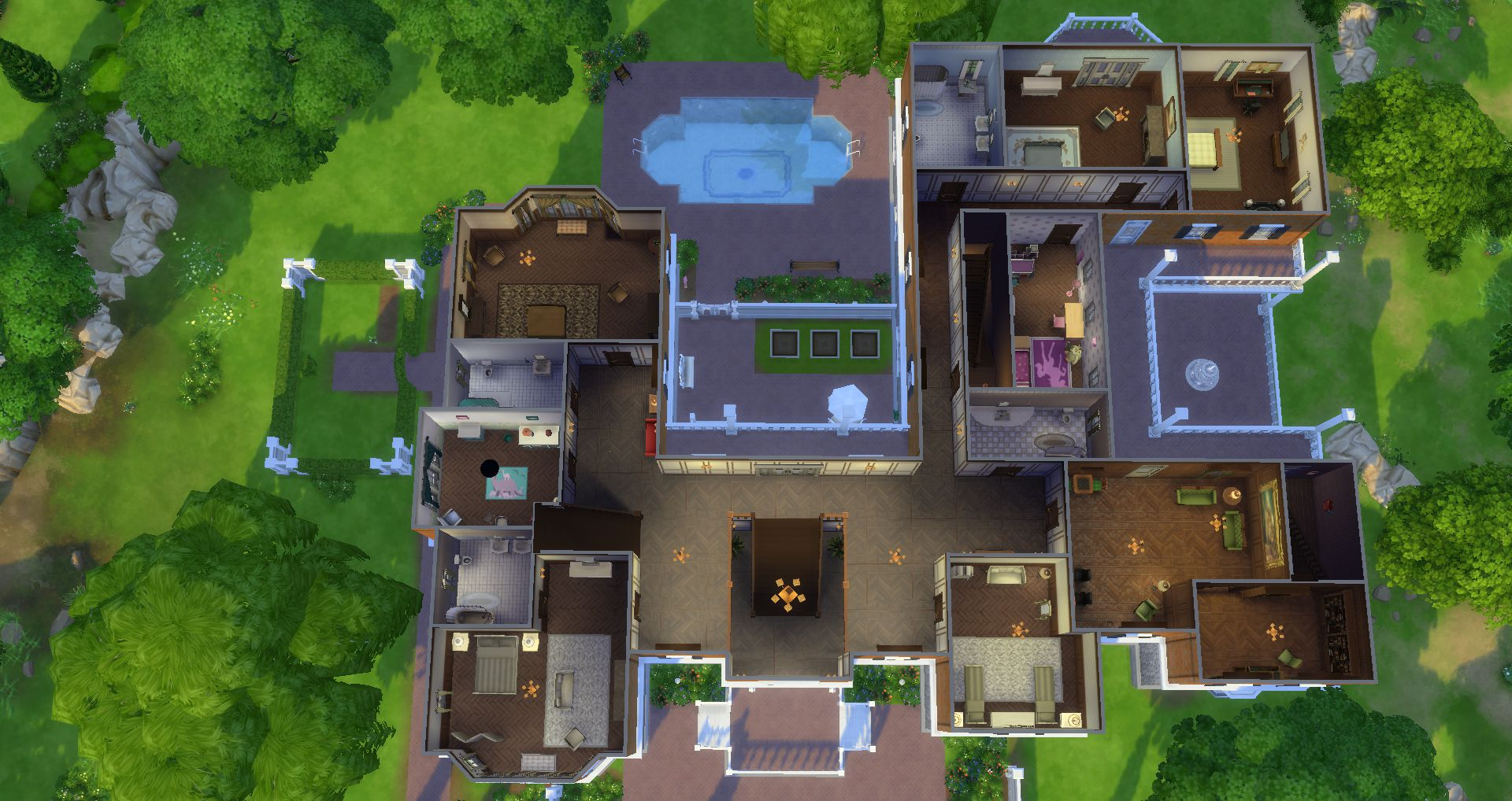 mod the sims old chateau du landgraab for ts4 remake port no cc