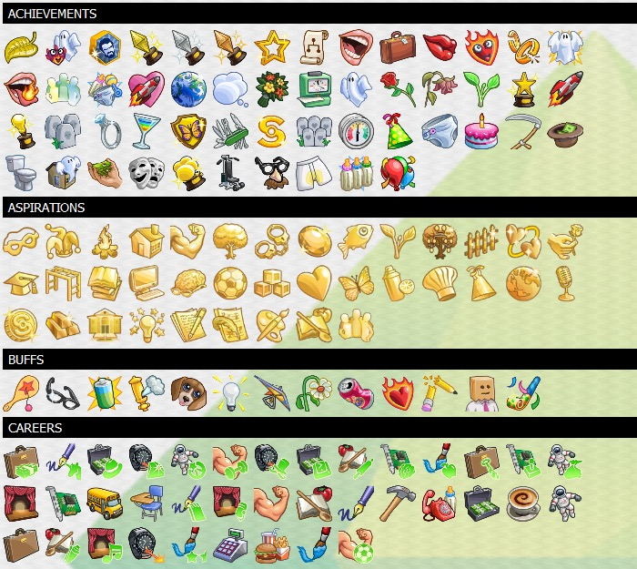 Mod The Sims - The Sims 4 Ultimate Game Icon Pack