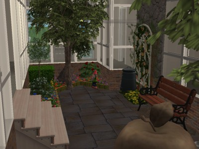 Mod the sims modern house with indoor garden for Indoor gardening sims 4