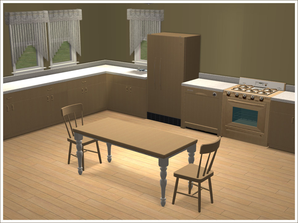 Mod the sims yay a cheap nice looking kitchen for Nice looking kitchens