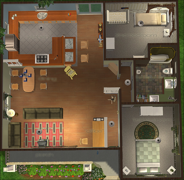 Sims 2 house floor plans home mansion for Sims 2 house designs floor plans