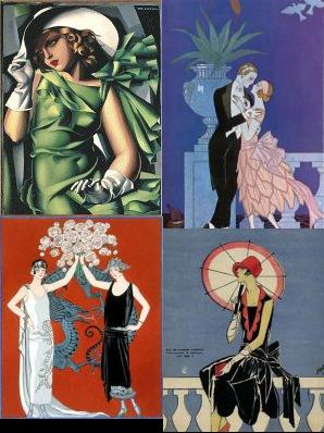 Mod The Sims A Set Of Four 1920 S Paintings