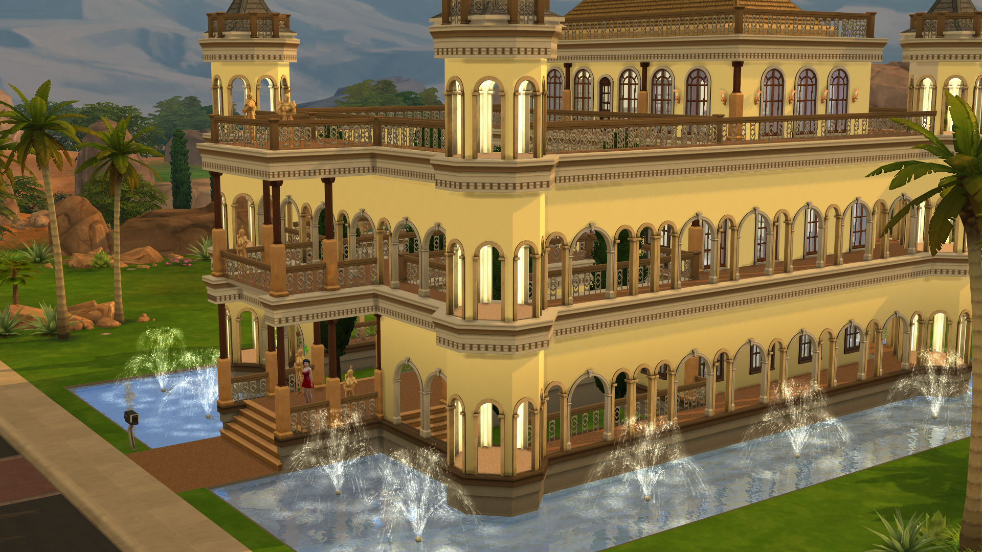 Mod The Sims - Sandy Castle built on a 40 x 30 lot 4 bed  4
