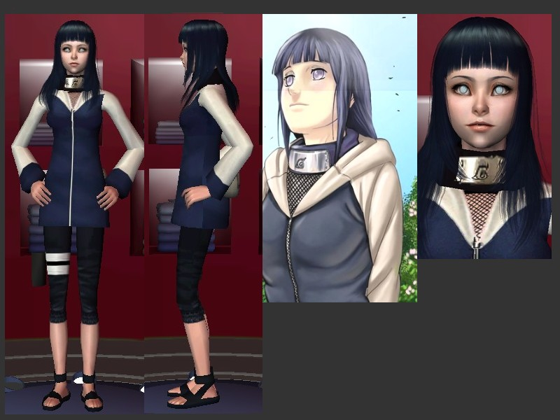 Sims 4 Anime Characters Mod : Mod the sims hinata hyuuga original character and