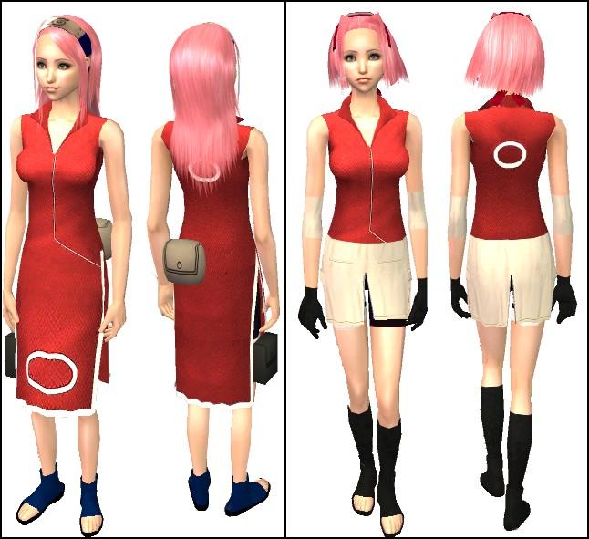 Mod The Sims - Haruno Sakura and Yamanaka Ino from Naruto Part I ...
