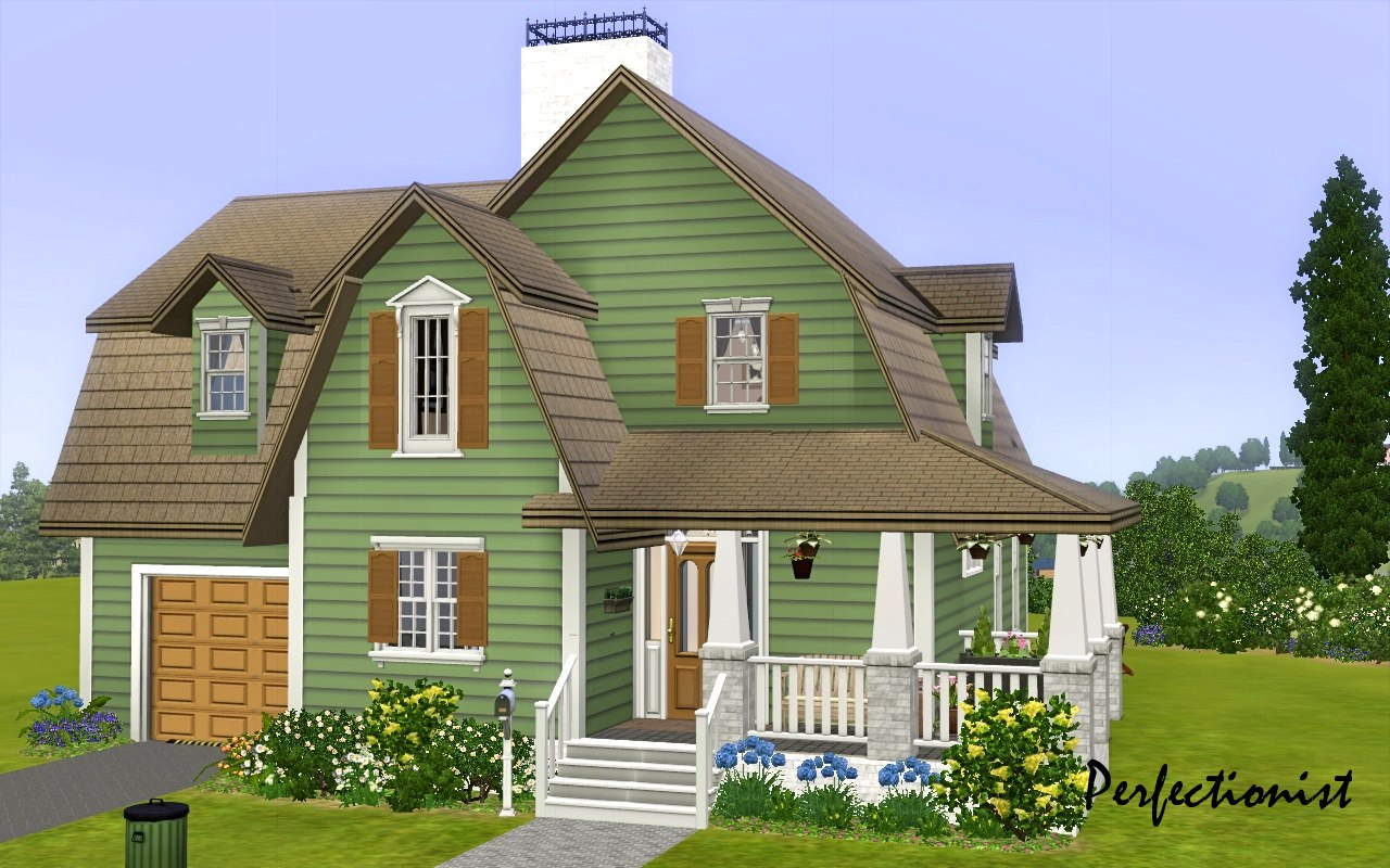 Sims 3 Bedroom Mod The Sims 3 Bedroom Green Country Style House Ts3 Remake