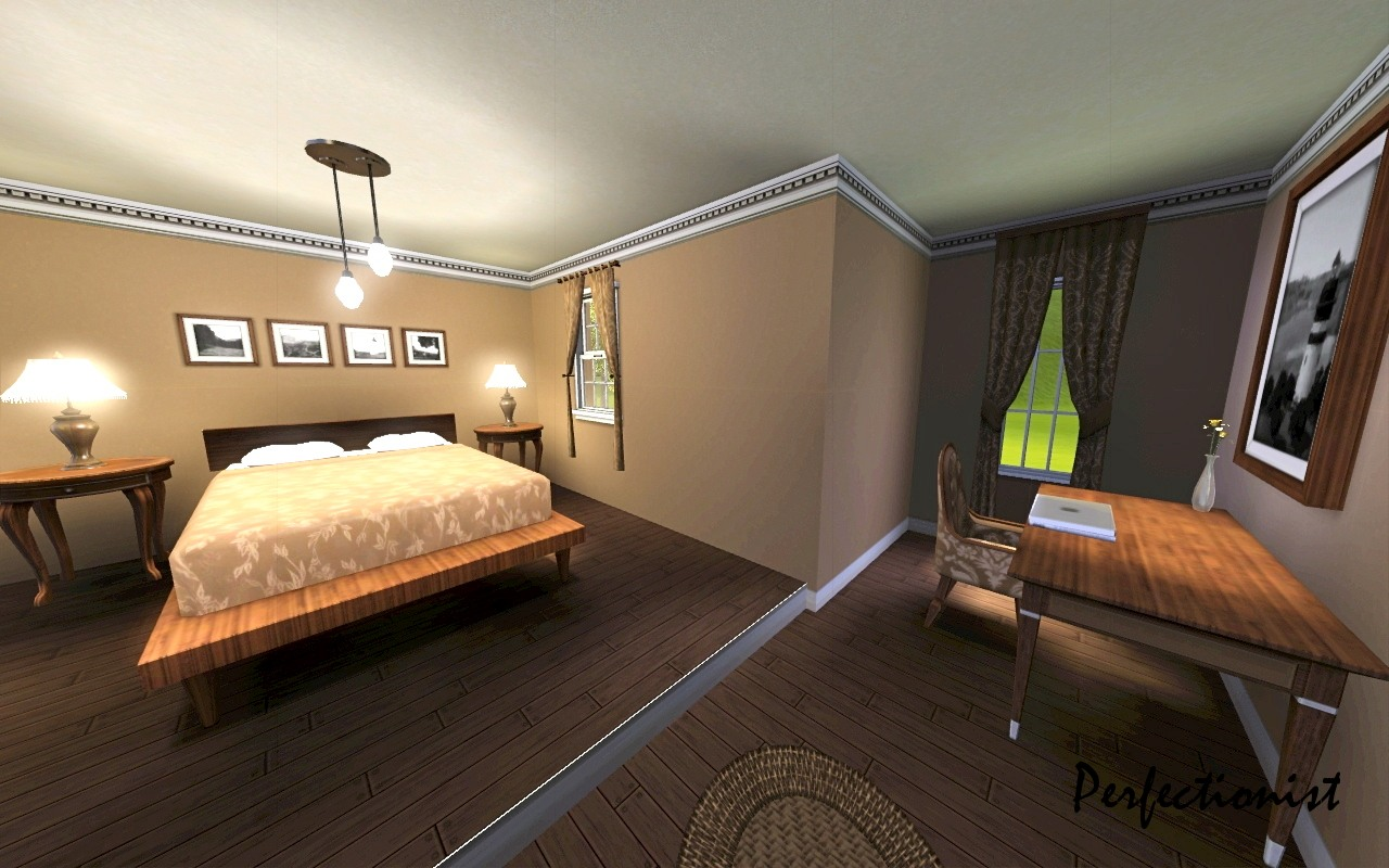 Sims 3 master bedroom images for Bedroom designs sims 4