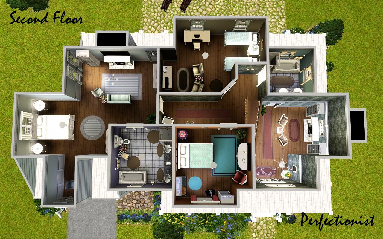 Mod the sims 39 lavender laurels 39 no cc for Sims interior designs 1