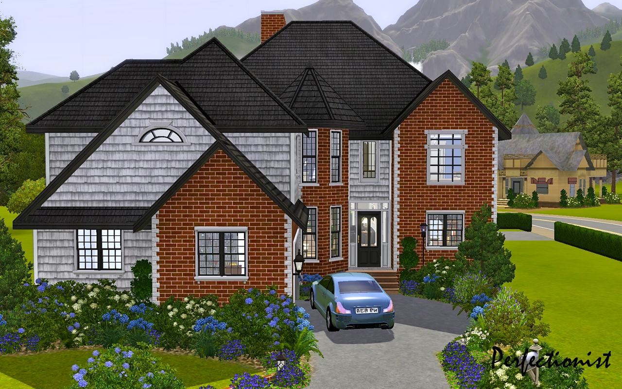 Advertisement  Mod The Sims 5 Bedroom European Style House TS3 Remake No CC