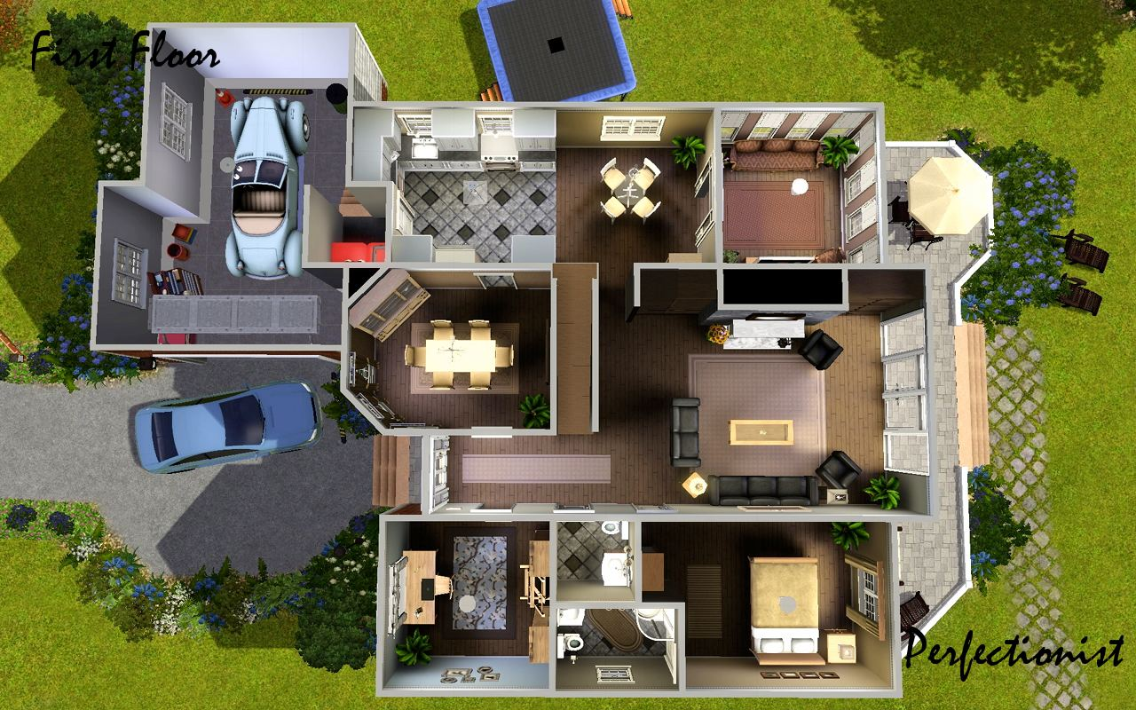 Mod the sims 39 5 bedroom european style house 39 ts3 Europe style house