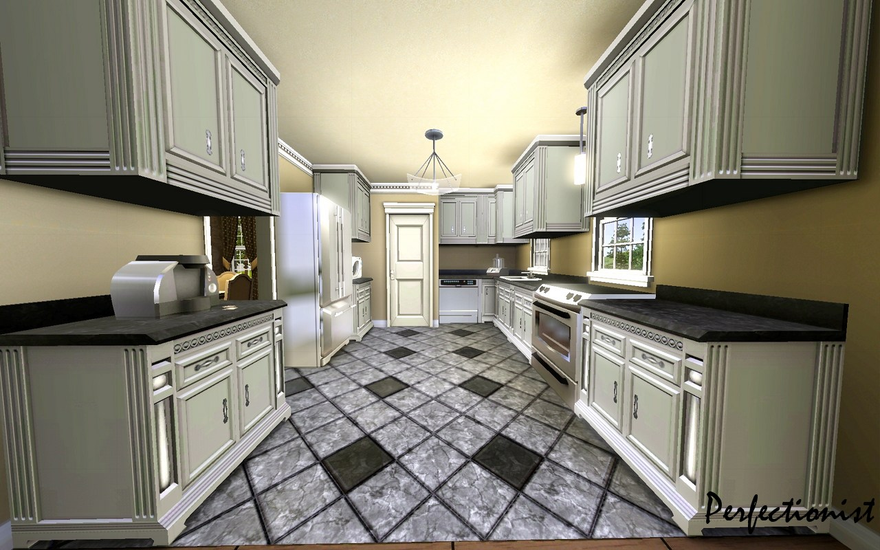 Mod the sims 39 5 bedroom european style house 39 ts3 for Kitchen remake