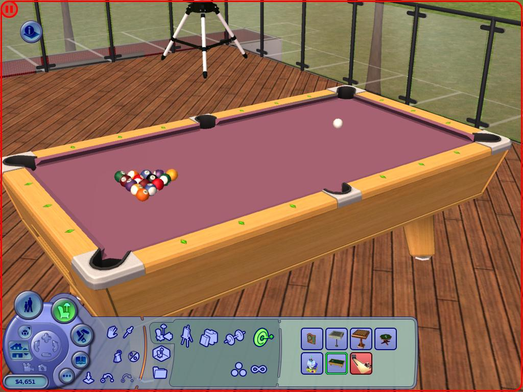 Mod the sims 2 recolours of the pool table for Pool design sims 4