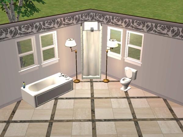 Mod The Sims - White Value Bathroom Set - bathtub, shower & toilet