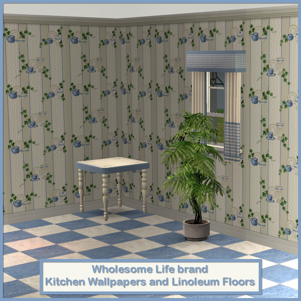 Mod The Sims - Wholesome Life Brand Kitchen Wallpaper and ...