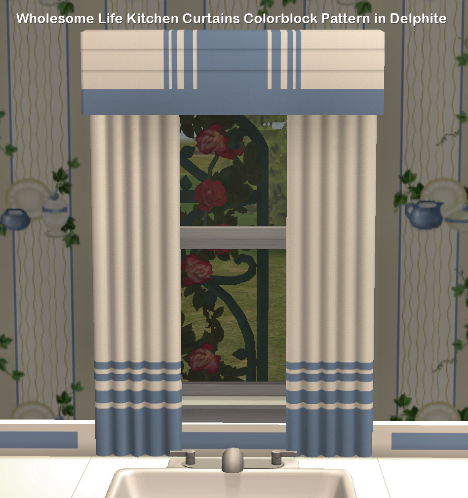 Mod The Sims - Wholesome Life brand Kitchen Curtains Sets in ...
