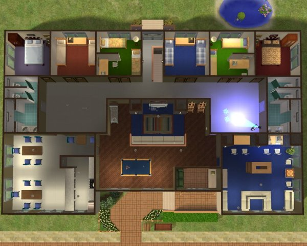 Decorating Ideas > Mod The Sims  Sim State Dorm By Gethane ~ 164505_Sims 3 Dorm Room Ideas