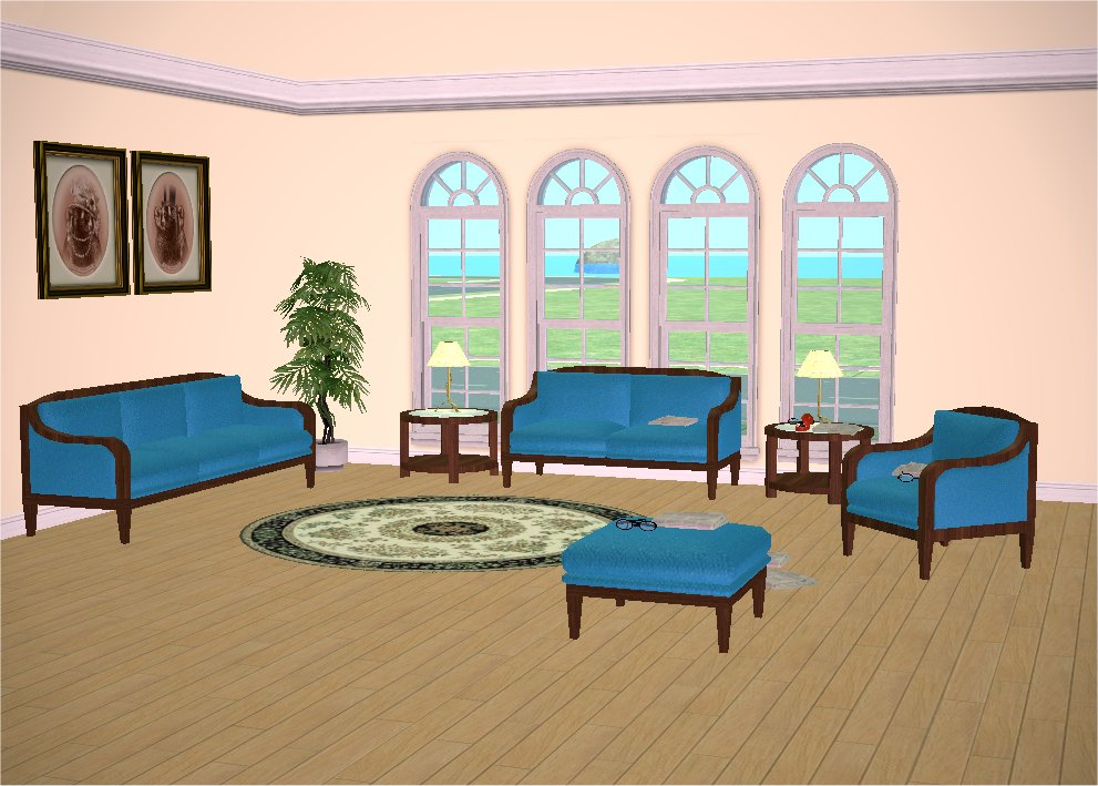 Mod The Sims Classic Living Room Set