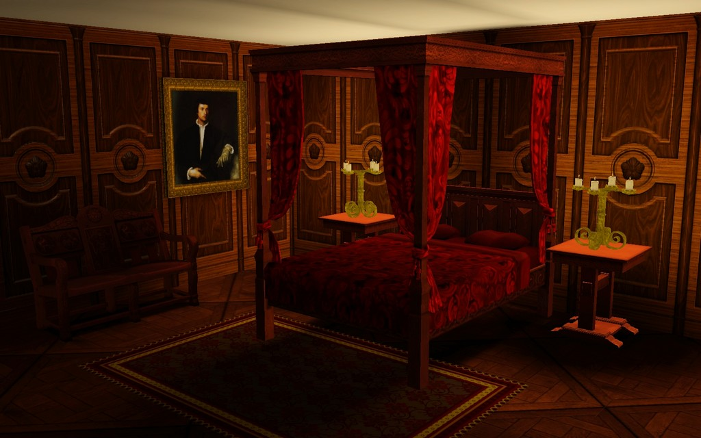 mod the sims medieval double and single beds from the