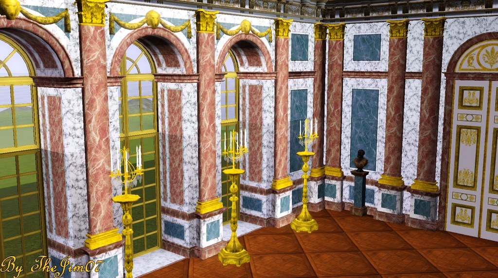 Mod The Sims Hall Of Mirrors Walls Set