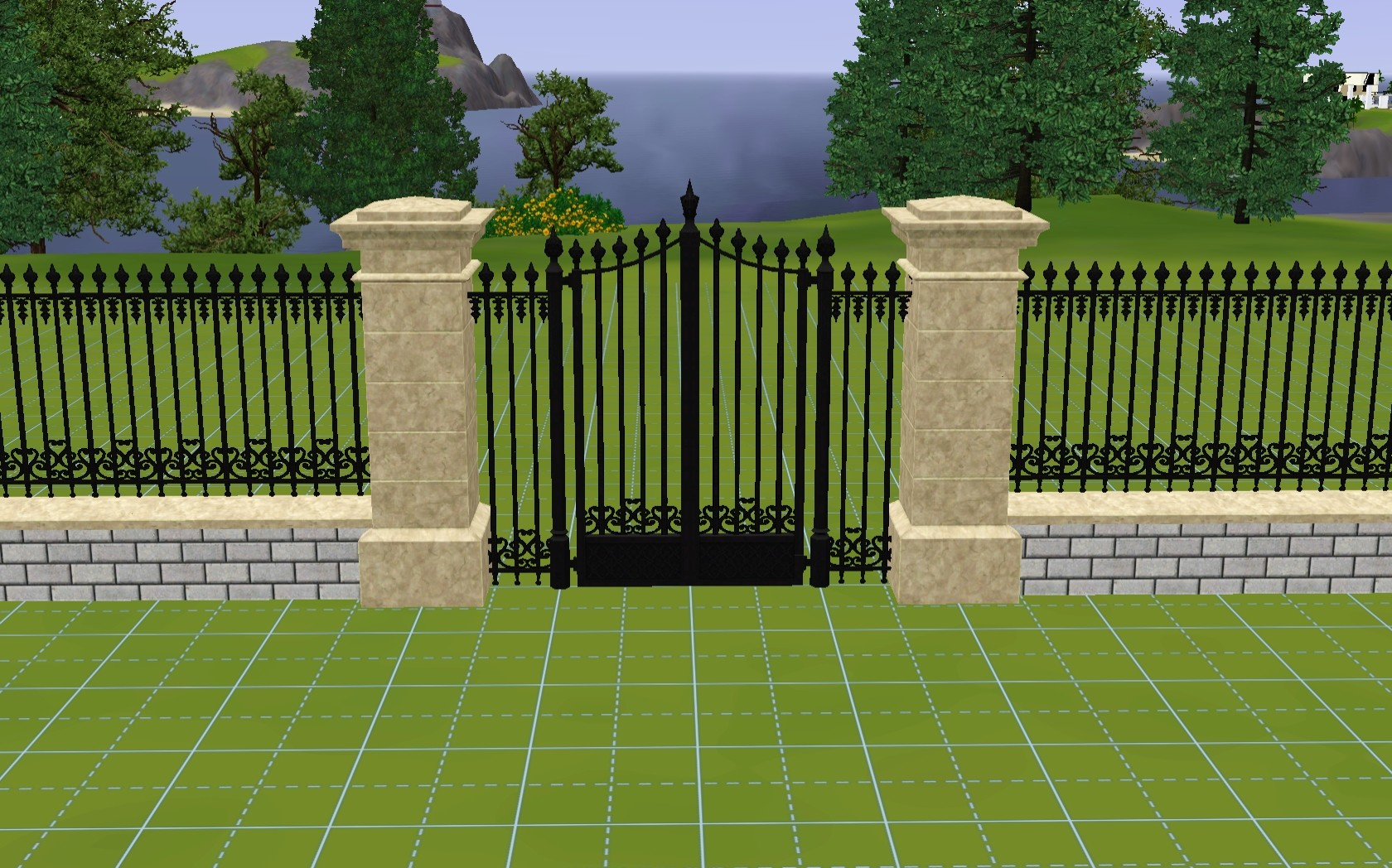 Mod The Sims Wrought Iron Gate And Fences