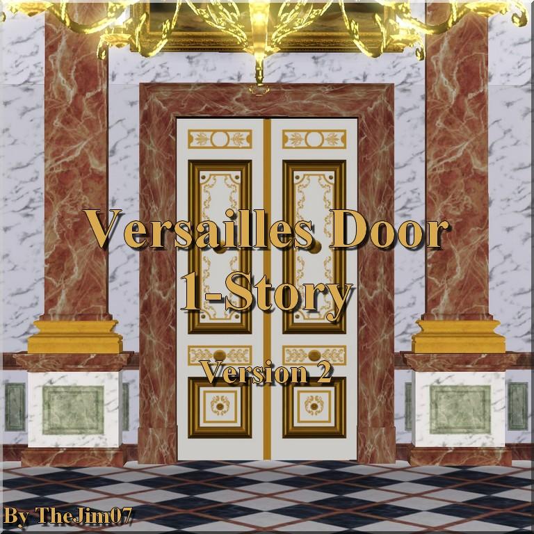 x & Mod The Sims - Versailles Door - 1 Story