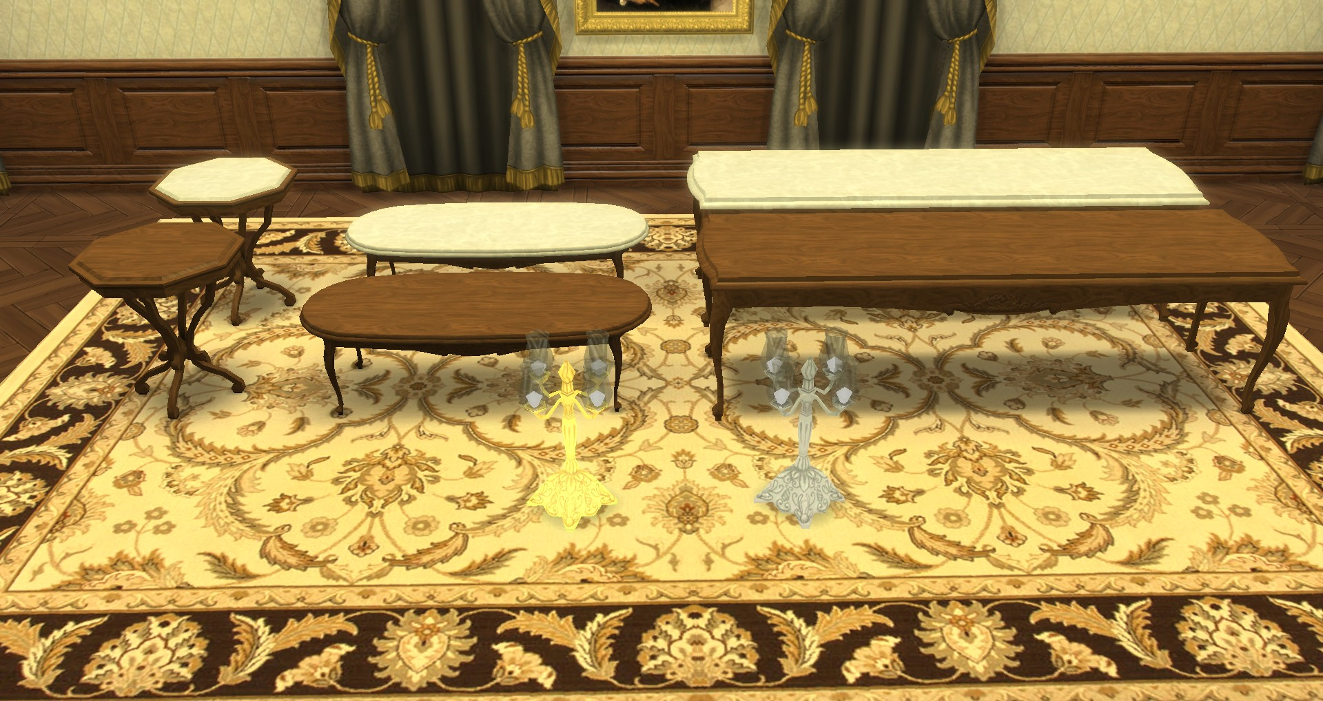 mod the sims romantique set dining room living room