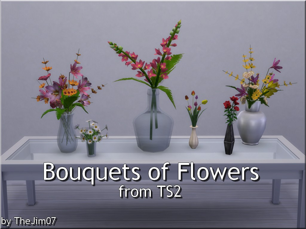 Mod The Sims Bouquets Of Flowers From Ts2