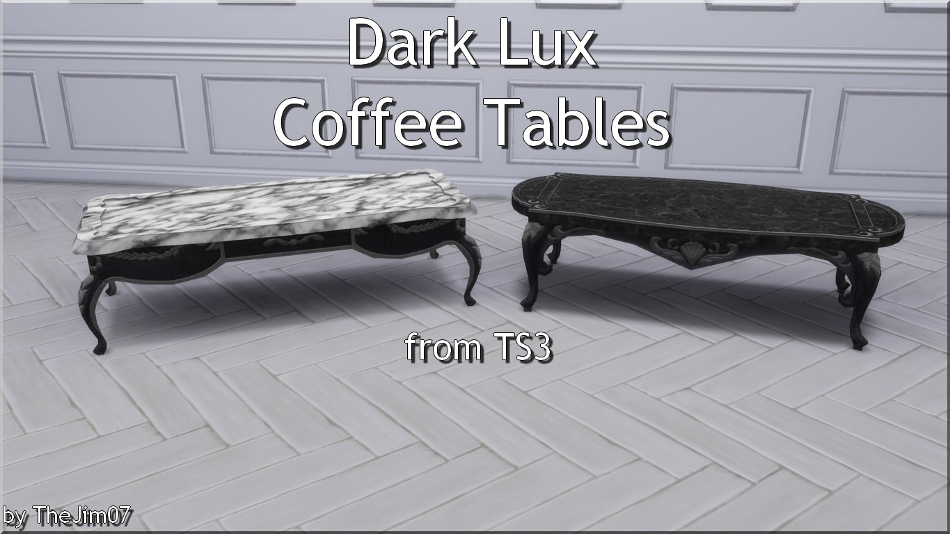 Groovy Mod The Sims Dark Lux Coffee Tables From Ts3 Machost Co Dining Chair Design Ideas Machostcouk