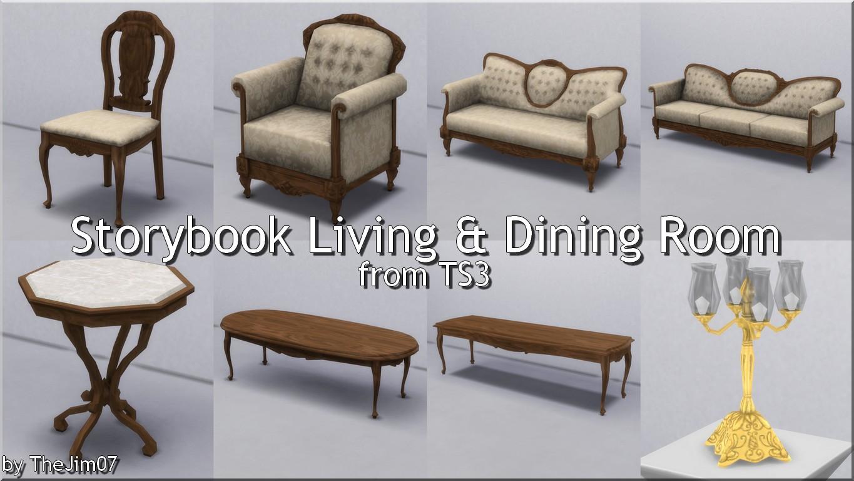 Гостиная и столовая Storybook