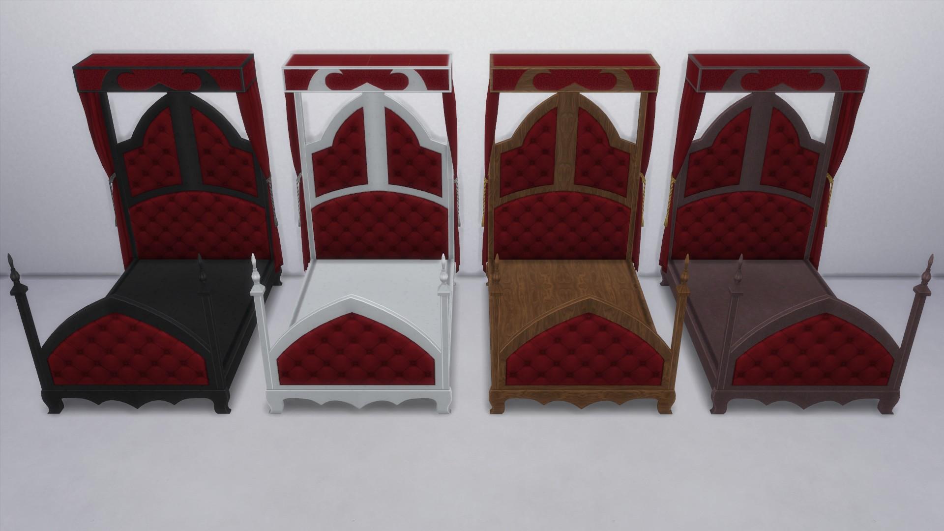 Готическая спальня от TS2