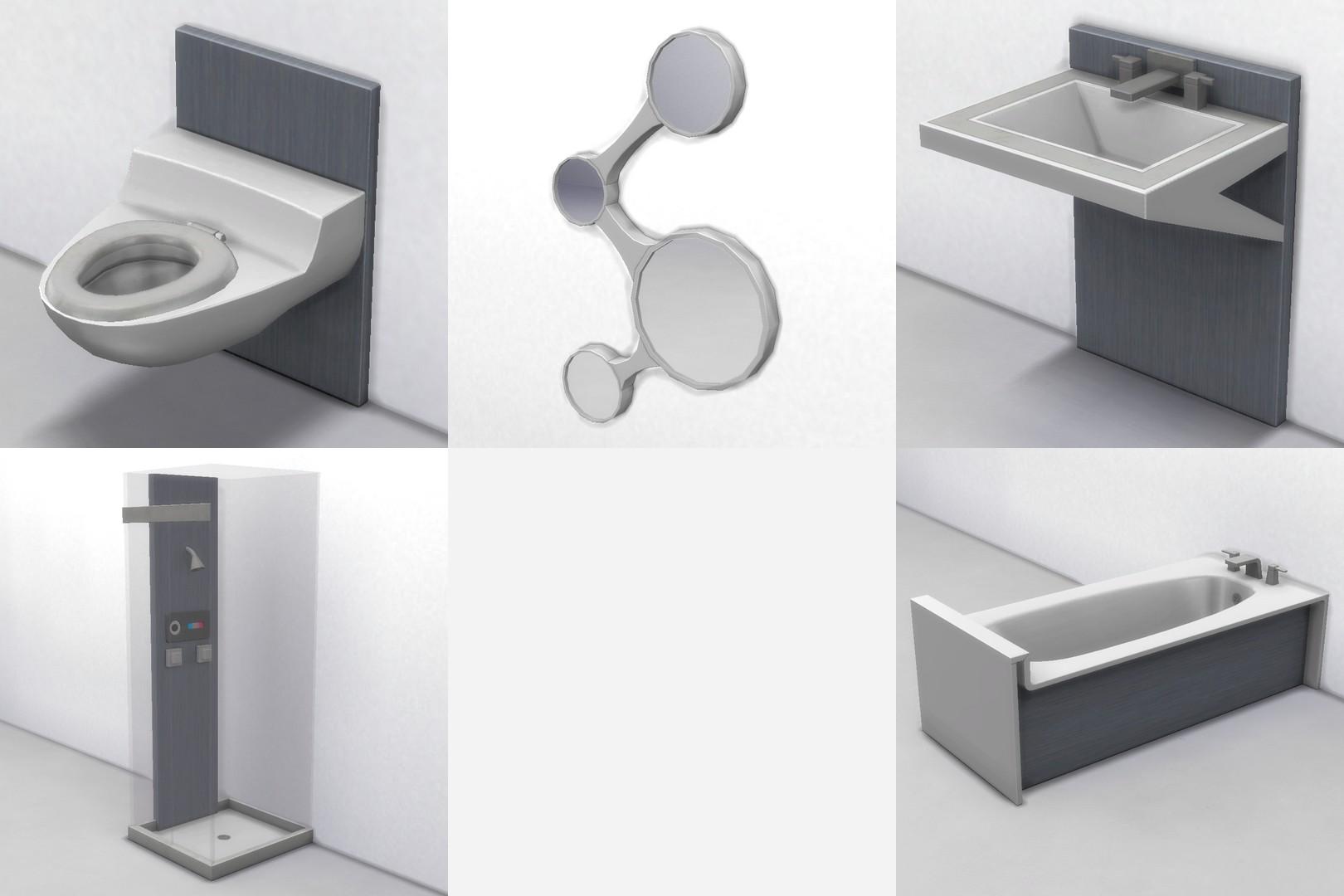 Футуристическая ванная комната