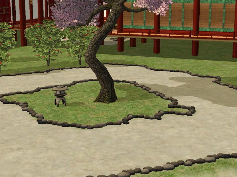 Mod The Sims Japanese style rocks fence