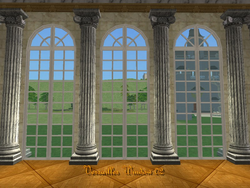 Mod the sims versailles windows for 2 window