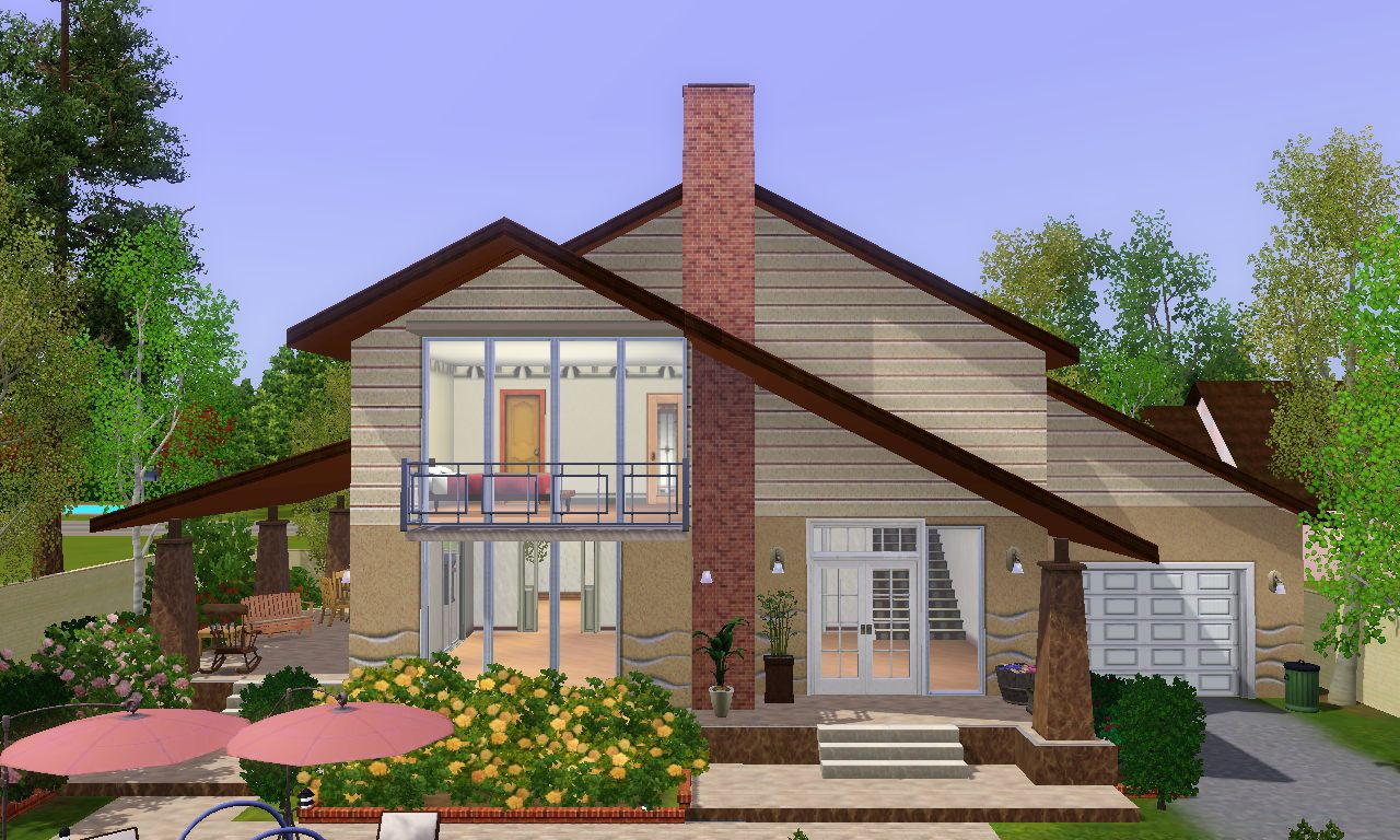 Mod the sims maison luiza for Case the sims 3 arredate