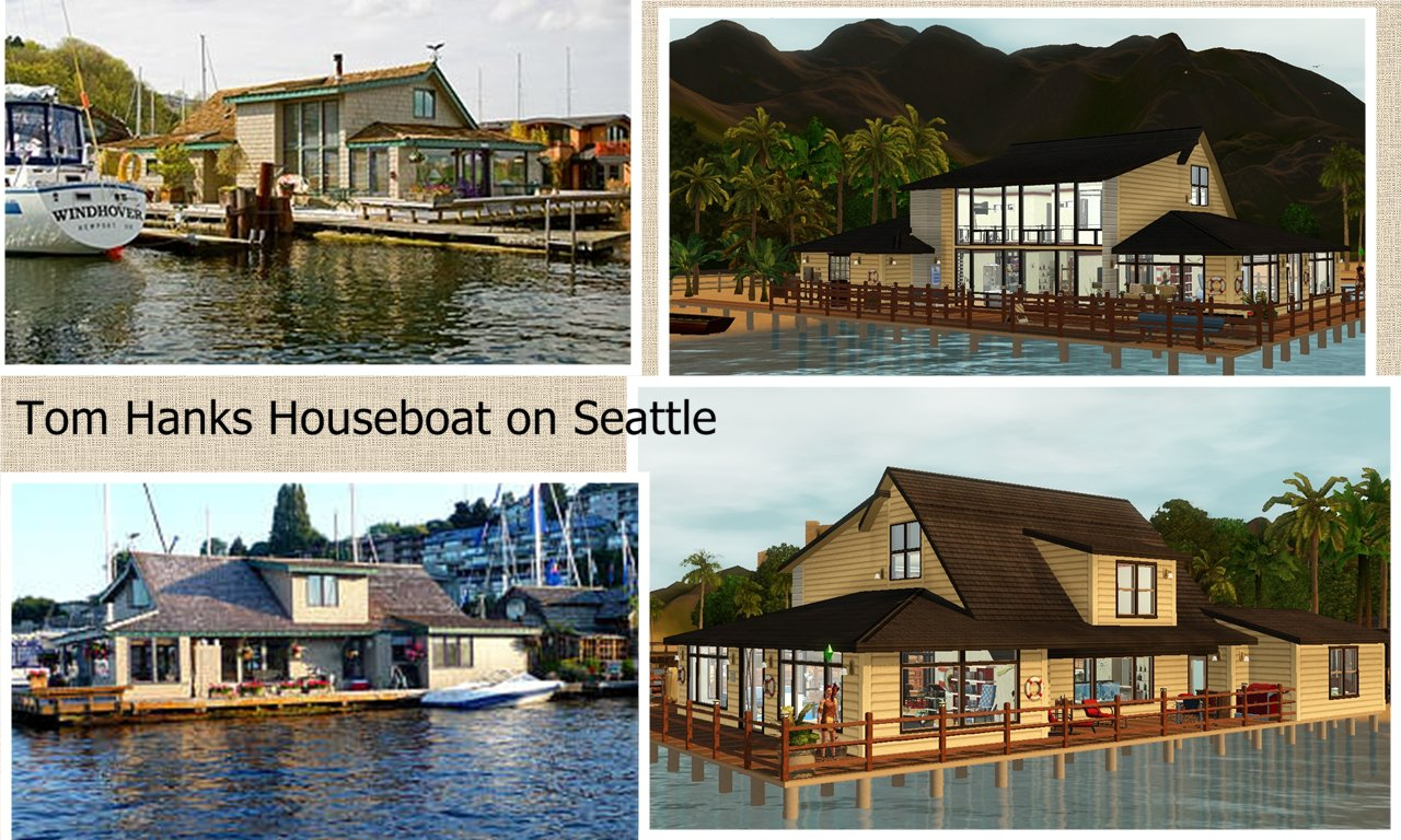Mod The Sims Sleepless In Seattle Tom Hanks Houseboat