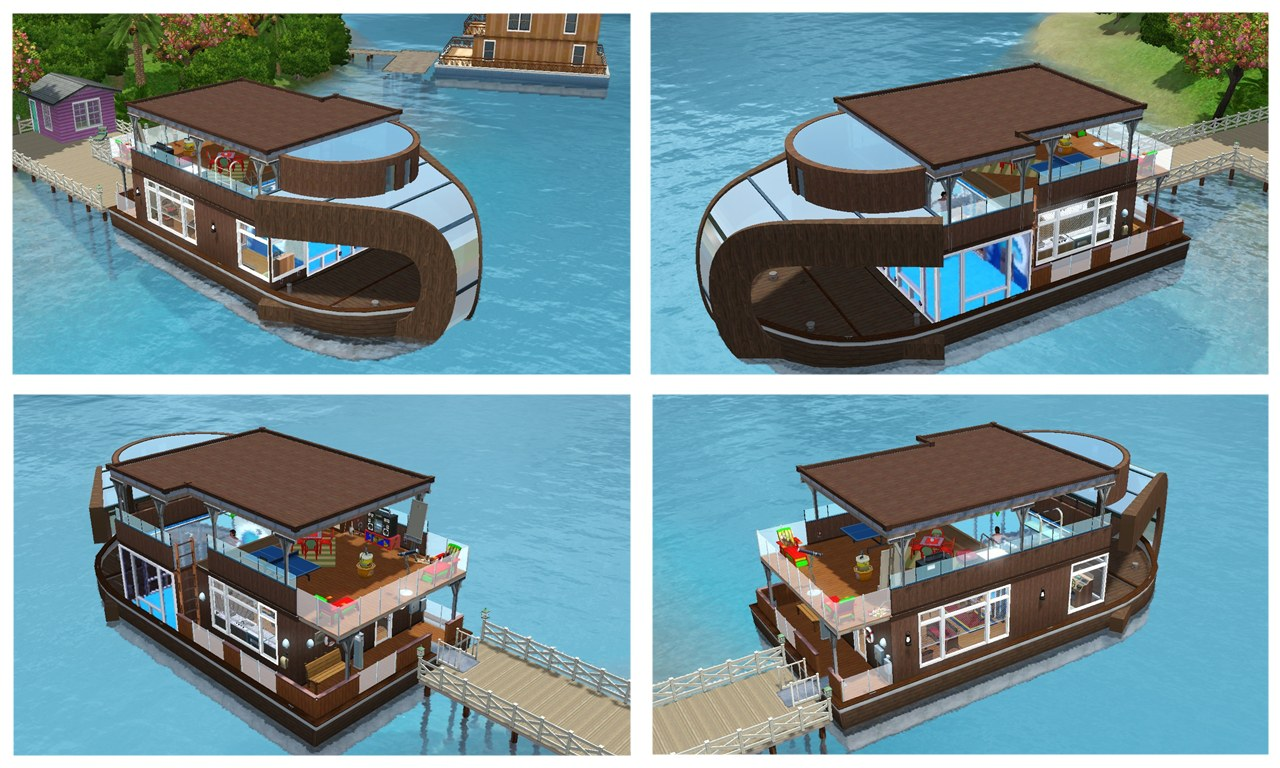 """Mod The Sims - """"King Neptune"""" - boathouse"""