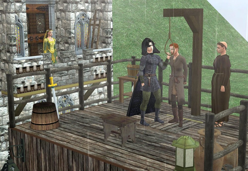 Mod The Sims Gwrych Medieval Prison Towers 2 Versions
